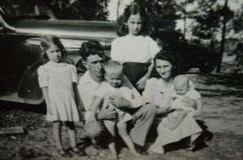 Payne Meadows Elva & Harold Payne Family 1948