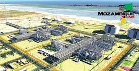Progetto dell'area degli impianti Total di Afungi