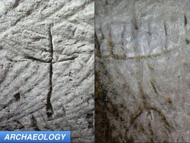 Ancient Religious Etchings Found in Cave