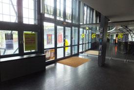 Das ist das Foyer des Ringlokschuppens