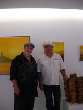 Alain Besse et le sculpteur Ugo Ratti