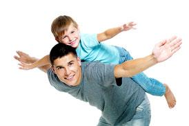 Vater Kind Judo, Eltern Kind Judo Turnen, Sport für Kinder im Vorschulalter
