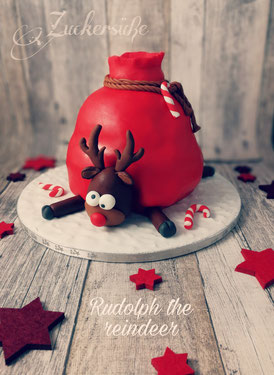 #3D Torte #Rudolphthereindeer