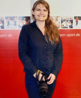 Fotografin Melanie Kahl (Aufgenommen bei einer Veranstaltung des Landessportbundes Thüringen)