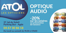 ATOL LES OPTICIENS  Agde