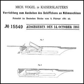 1881 10 14 DE 15.549 Mich. Vogel