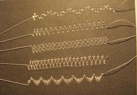 вышитое кружево Имитация кружев с помощью вышивки на швейной машинке