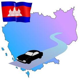 Mietwagen mit Fahrer in Kambodscha