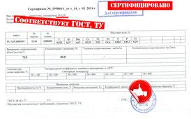 Сертификат наполнитель для ректификационных колонн массообменных, спирально призматическая насадка