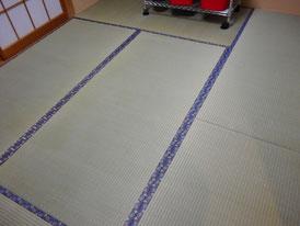 紺の畳縁でお部屋が引き締まった印象に