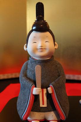 有田陶びなコンテスト最優秀賞の男雛