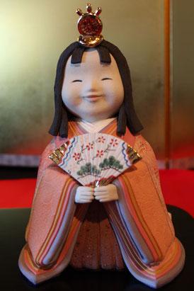有田陶びなコンテスト最優秀賞の女雛