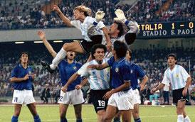 アルゼンチン カニージャの同点ゴール。