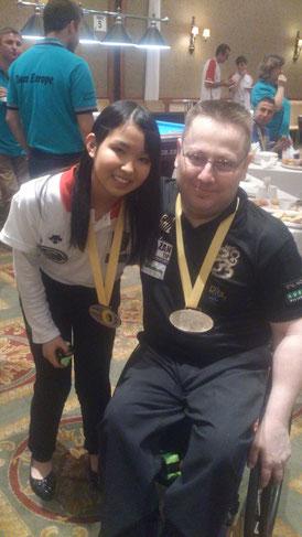 車椅子世界選手権優勝のヨウニ・ターチと。MEZZ繋がり