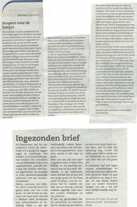 Ingezonden brieven in de Klaroen en in het Papendrechts Nieuwsblad van 12 juli 2017