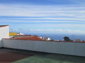Ligne d'horizon de la terrasse de l'hôtel