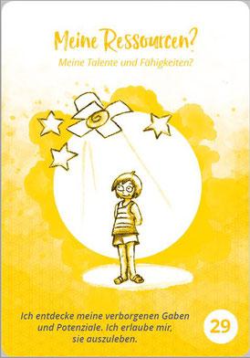 """Auch wer mit meinem """"Inneren Kind Kartenset"""" arbeitet, wird aufgefordert, sich über seine vorhandenen Ressourcen Gedanken zu machen... (Illustration: ©Martina Sophie Pankow, www.msp-world.de)"""