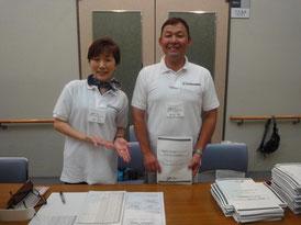 資料配布担当の米生さんと佐々木さん