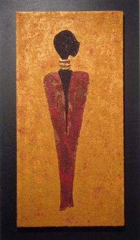 BOY AREND 40 x 70 cm, Acryl & Sand gespachtelt (verkauft)