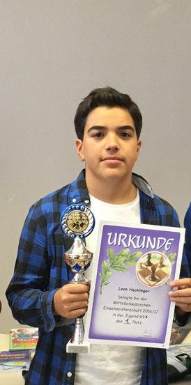 Leon Hacklinger, Sieger der U14