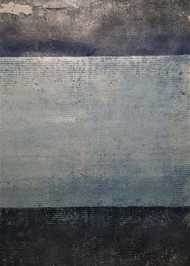 Acryl auf Papier / 56x76 /  August 19 / Blau 2