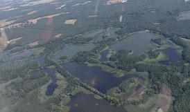 Lausitzer Seenland ist ein künstlich angelegtes Seengebiet