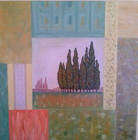 Cypress View 2003 (Öl) 70x70