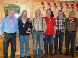 v.l. Wörz Hans, Kessler Josef, Sinz Helmut, Mohr Werner, Dreher Bruno u. Macek Georg.
