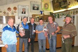 v.l. O.Schm. Josef Kessler, Albert Müller, Hans Moschner, Harald Huber, Gotthard Ströhle u. Josef Ledinek.