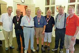 v.l. Ing. Reinhold Gruber, Josef Kohler, Helmut Sinz, Bruno Dreher, Georg Macek, Hubert Steurer u. Werner Mohr.