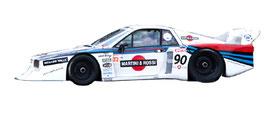 vettura prototipo da pista lancia beta montecarlo grafica completa da pubblimais a torino martini racing