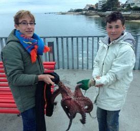 peche du poulpe Arcachon jetée croix des marins