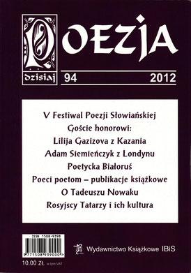 """Poesie - Dokumentation / Festival Slavischer Poesie, """"POESIE heute"""", Nr.94, IBiS, Warschau, Polen 2012"""