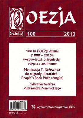 """Prosa / Literaturzeichtschrift """"POESIE heute"""" Nr.100, Jubiläumsausgabe / IBiS, Warschau 2013"""