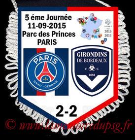 Fanion  PSG-Bordeaux  2015-16