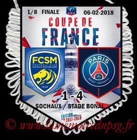 Fanion  Sochaux-PSG  2017-18