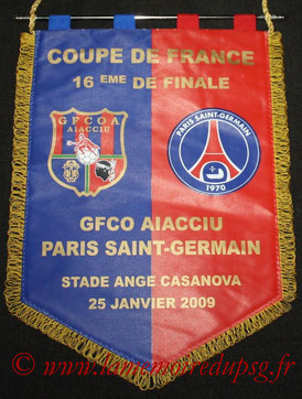 Fanion officiel Ajaccio-PSG  2008-09