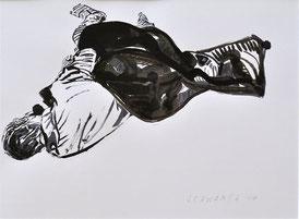 S. schlafend | 2014 | 30 x 40 cm | Tusche auf Papier