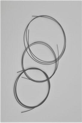フロロカーボン製の黒絃