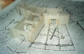 Der Bühnenplan wurde auf Originalgröße des Modells von Jefferies kopiert und darauf aufgebaut.