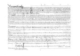 Notariell beglaubigte Übersetzung und Kopie des Testaments von Guilhaume Cazaly, 1825 (Pergament, Seite 2) / © Sammlung PRISARD