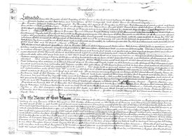 Notariell beglaubigte Übersetzung und Kopie des Testaments von Guilhaume Cazaly, 1825 (Pergament, Seite 1) / © Sammlung PRISARD
