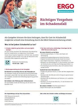 """Leitfaden """"Richtiges Vorgehen im Schadenfall"""". Wie und wo reiche ich einen Reiseversicherungs-Schaden ein für Urlaub in Deutschland?"""