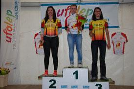 1er Pauline Eychenne Ch Ariège VTT 2015 à Saint Lizier (09)