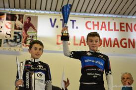 Challenge de la Lomagne  VTT 2016  Dal Maso Raphael - Saubere Loïs