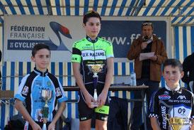 3ème place pour notre Benjamin Loïs Saubère au Ch sur route 2015 à Castres (81)