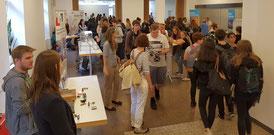 Tag der Technik 2018: Projektpräsentation und Mitmach-Workshops in den Räumen der KuBa (Bild: VDE Saar)