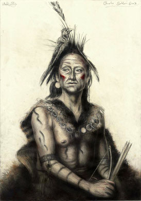 "tOG-A.N.021-WVz.4992 ""Omaha Southern Sioux"" 2015 - 100 x 70 cm - Andreas Noßmann Künstler der tOG-Düsseldorf"