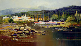 Cuadro con barcos de vela