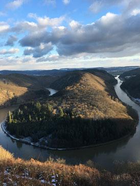 Die Saarschleife, Wahrzeichen des Saarlandes bei Mettlach-Orscholz